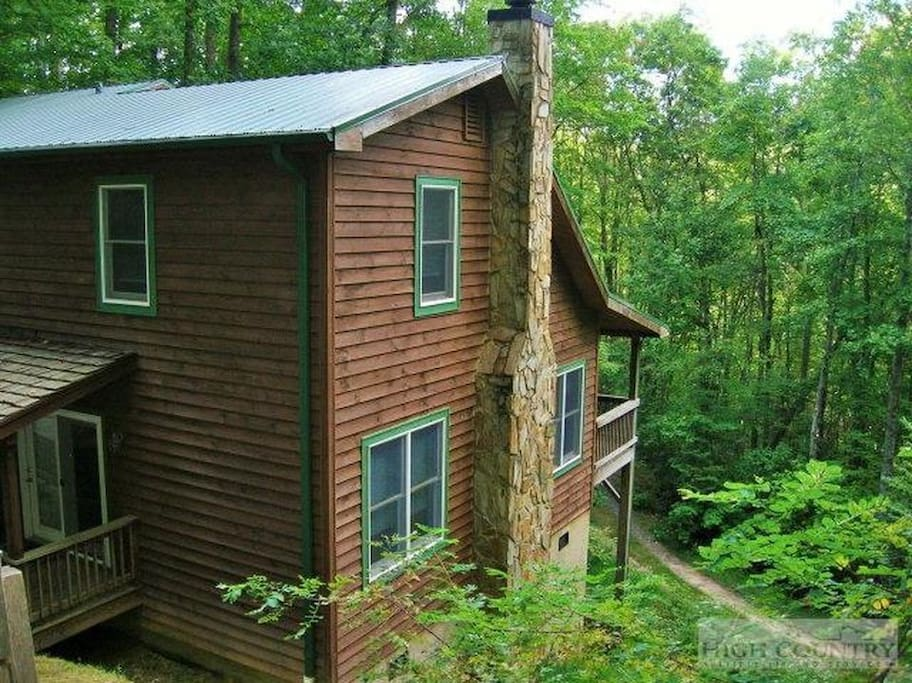 Bears in a hot tub cabins for rent in boone north for Boone ski cabin rentals