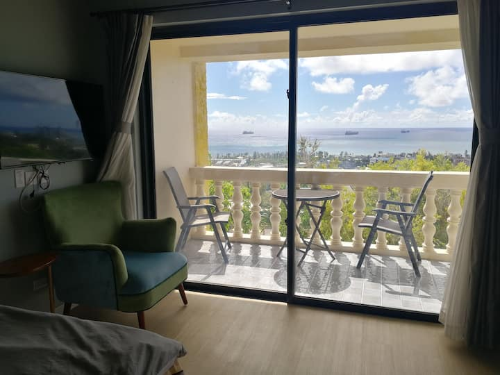 2 bedrooms one bath in Ocean view villa花园海景别墅两室一卫