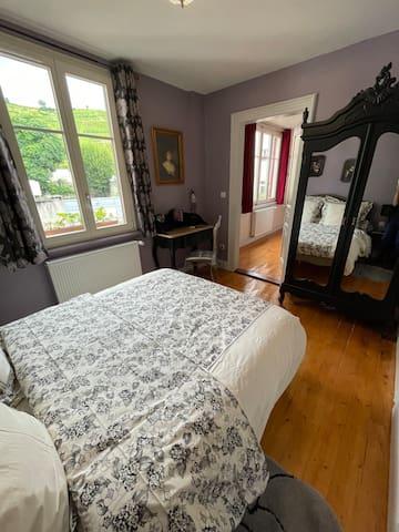 Chambre à coucher avec lit double 140x190 cm