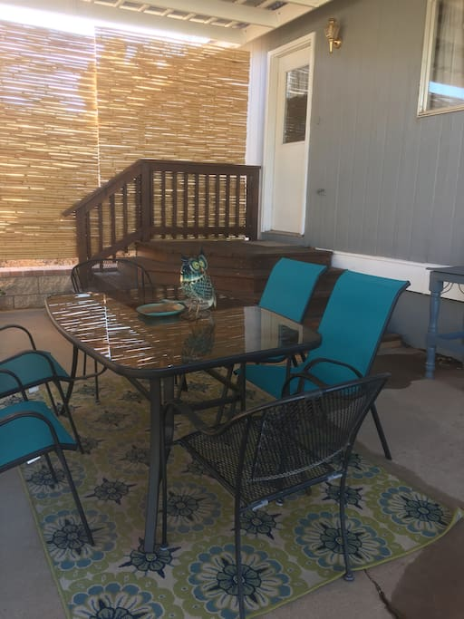 Private patio for relaxing & BBQ