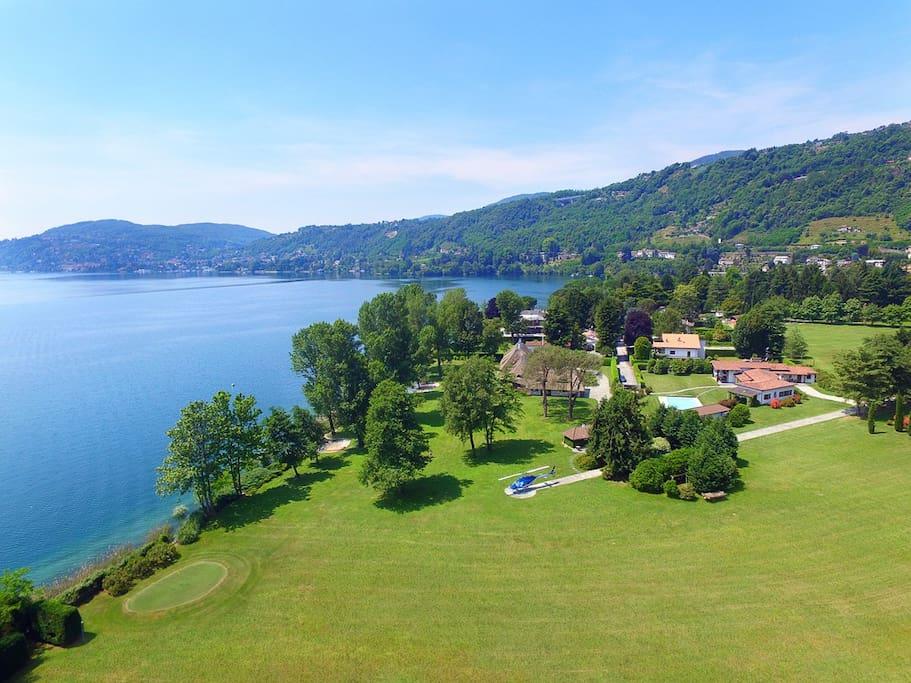 Villa Solcio, Lesa Lake Maggiore - NORTHITALY VILLAS Vacation Villa Rentals