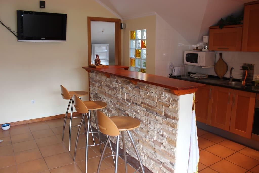 hall + kitchen + Sofa