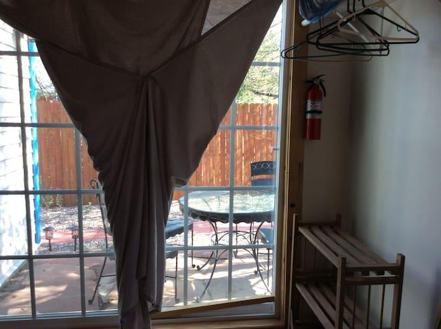 Screened double door to patio