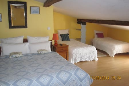 3 double bedrooms  on suite - Berneuil - Bed & Breakfast - 2