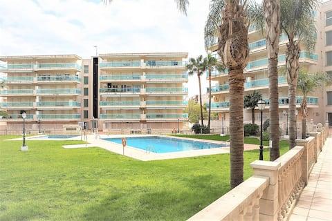 Cerca PortAventura/Parking-Piscina-Wifi-A/A-Calef.