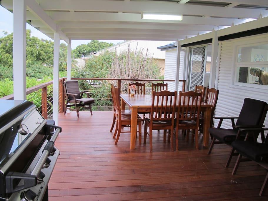 Enjoy the spacious deck