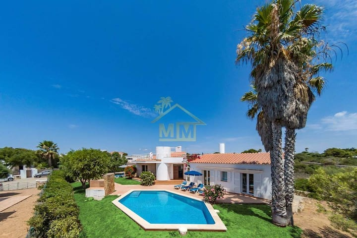 Charming Villa in Binibeca sea view pool & garden