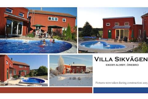 "Newbuilt ""studio"" 1-4 persons with pool and sauna"