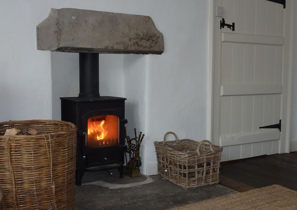 Get cosy by the log-burner in the lounge!