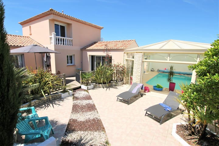 Villa Les Pins - heated indoor swimming pool