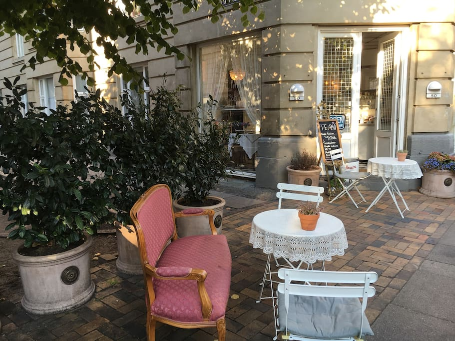 Cozy and quaint cafe right in our building (middle of Frederiksberg Alle).
