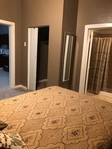 Bedroom. Restroom is in bedroom area.
