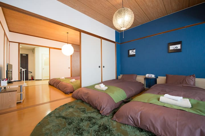 FreeWifi & Urban Two-Bedroom Retreat  #a4 - Kanazawa-shi - Apartment