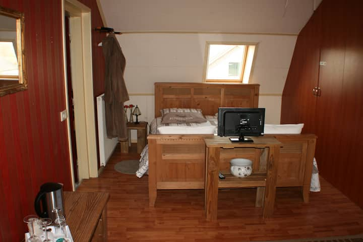 Bed&Breakfast in een sfeervolle, ouderwetse kamer