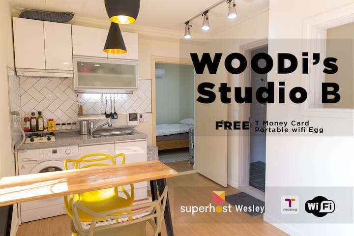 [Woodi's Studio B] Myeong-Dong(house rent)