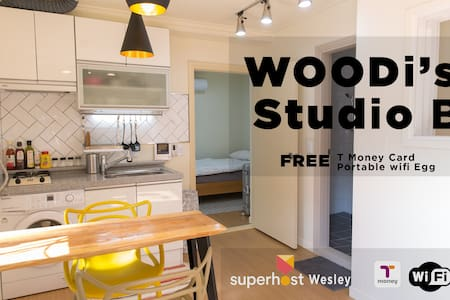 [Woodi's Studio B] Myeong-Dong(house rent) 단기임대가능