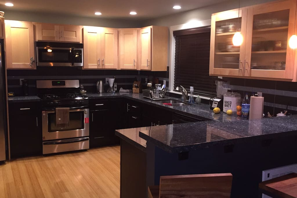 Fully outfitted kitchen available for cooking