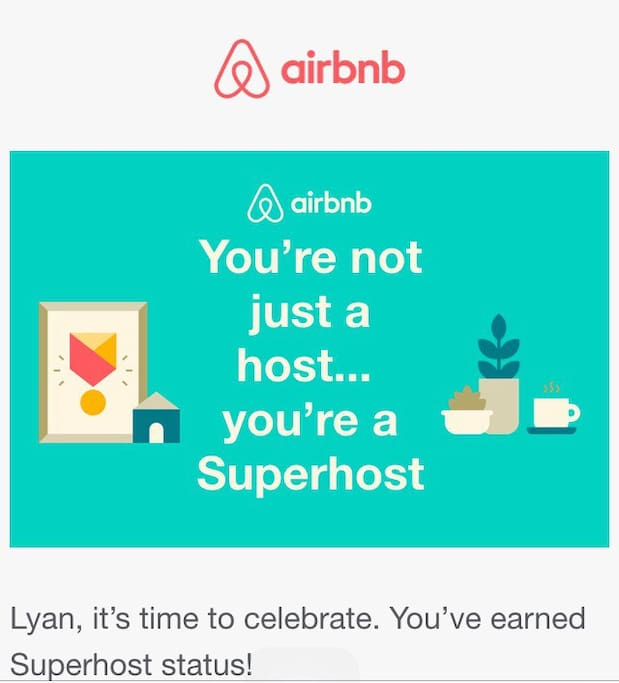 Thank you for the recognition Airbnb :)))