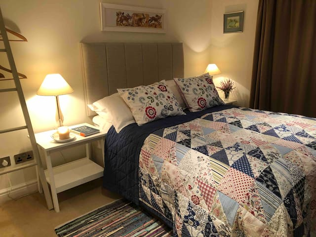 Bedroom 2.  Cosy cottage room with a double  bed