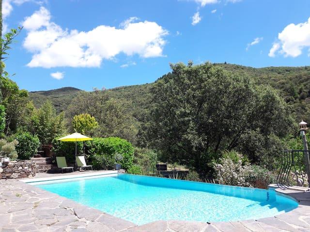 chambre pour 2 avec clim, accès piscine et jacuzzi