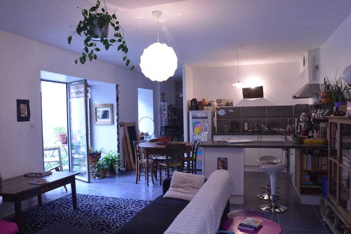 petit appartement avec jardinet