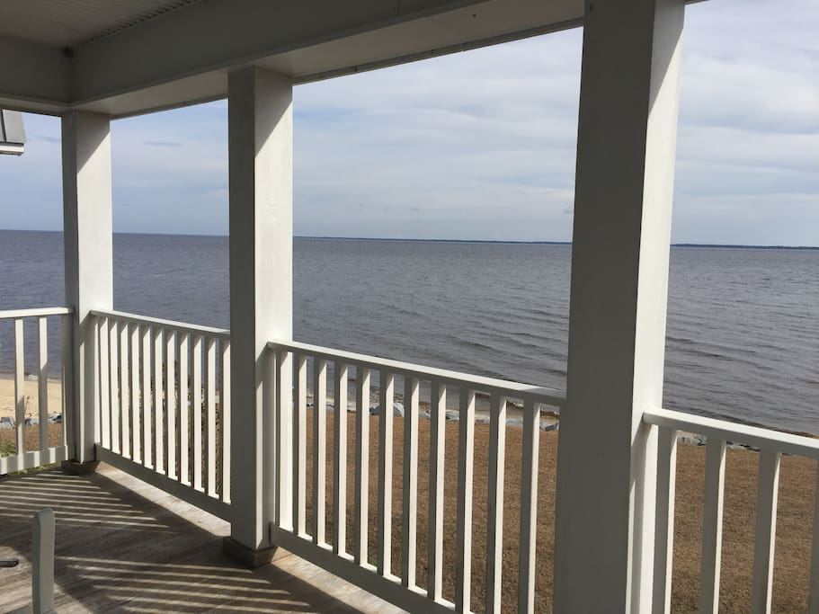 The 3-mile wide view of the Neuse River from the top floor