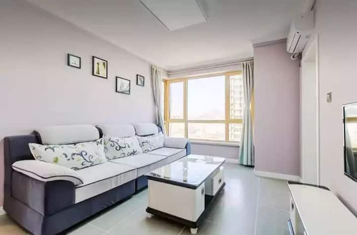 梦之湾海景两室浪漫粉色主题公寓1904
