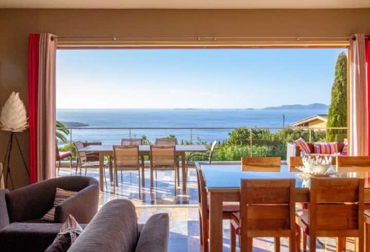 Villa - Vue mer Panoramique - Piscine Chauffée