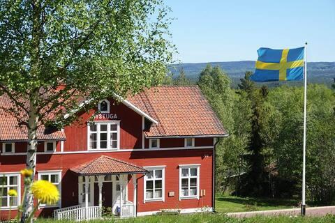 Mysigt boende i den gamla skolan i Hornberga