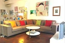Wonderful room very spacious with XL  comfortable sofa
