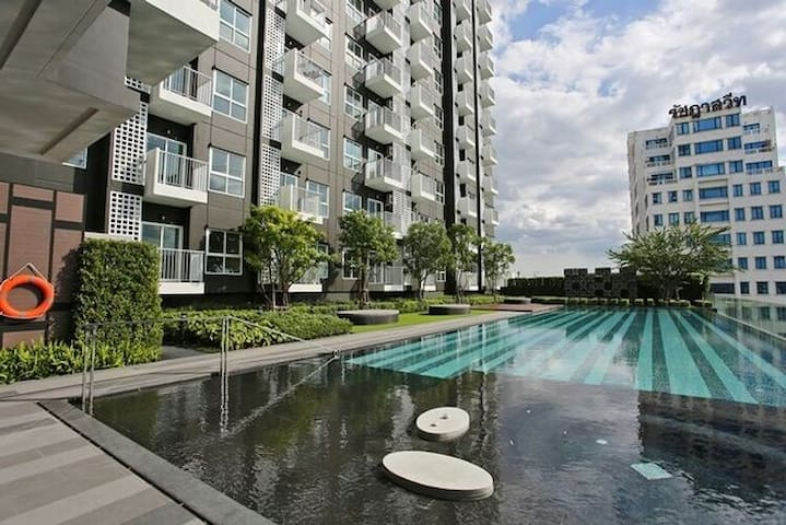 Private room/Garden view and swimming pool - Bangkok - Daire
