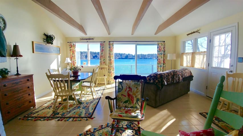 Sunshine and waterviews from the living room