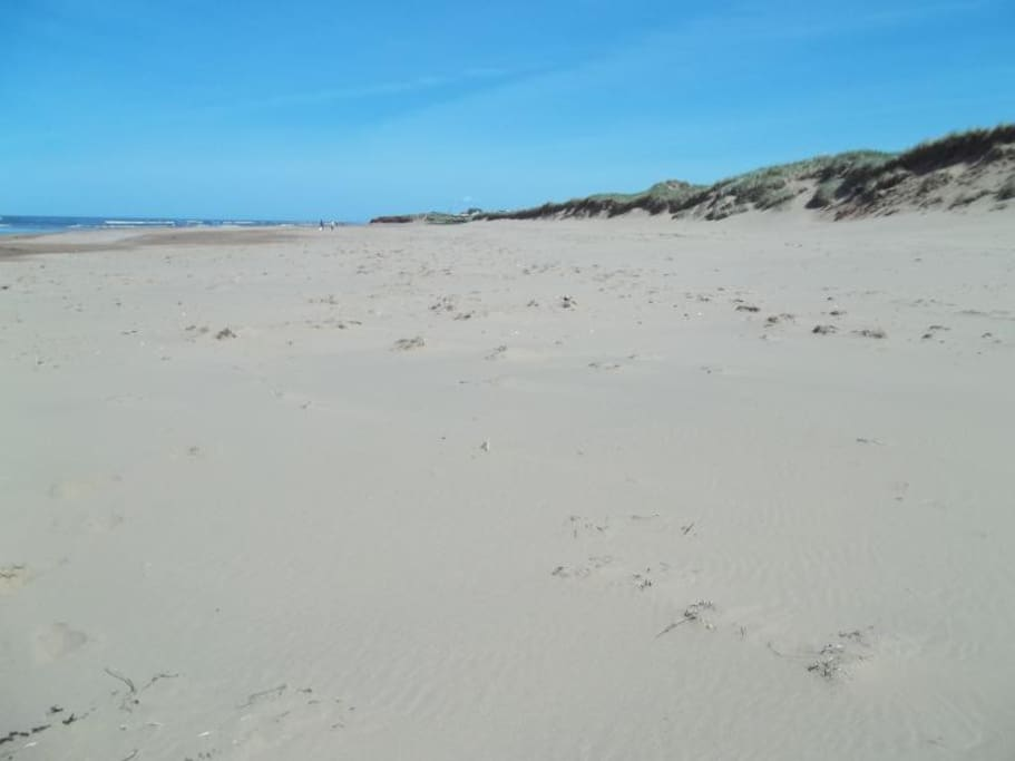 Our beach is expansive, private, flat and many kilometers long.