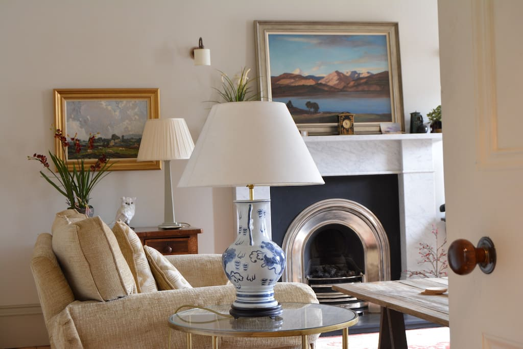 Lovely feature fireplace