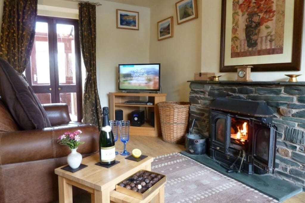 Barn Roost, lounge, Lakes Cottage Holidays