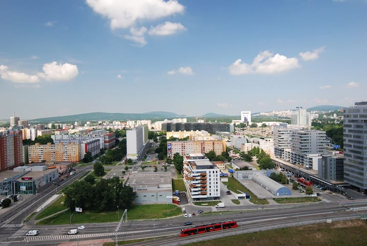 Spectacular view over Bratislava!