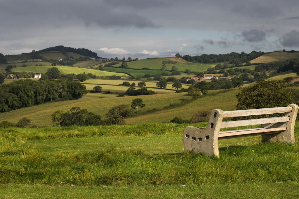 Enjoy the view from Purcombe Hill.