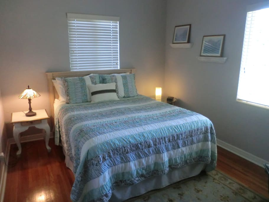 Very comfortable bed in spacious guest room