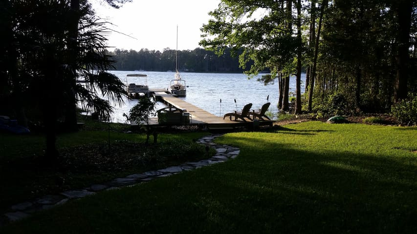 Beautiful Lake Murray is right out your door. Swim off the dock or just relax on the dock.
