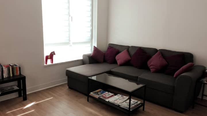 Private room in nice flat with easy access