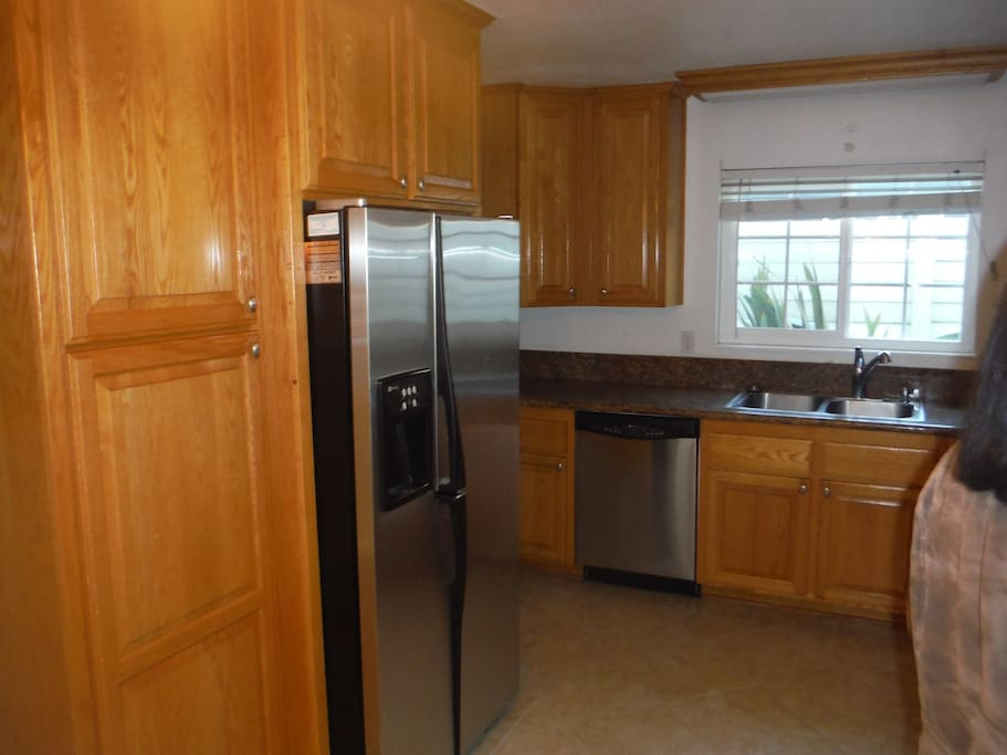 The kitchen with all stainless steel upgrades
