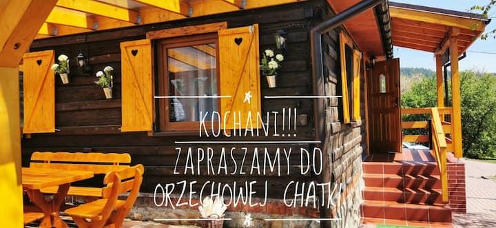 Sielanówek- Orzechowa Chatka z sauną.