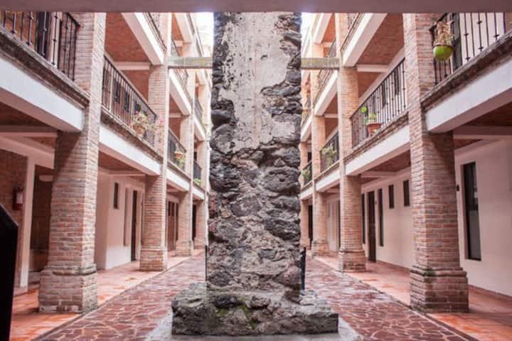 Pequeñas habitacionesprivadas en HACIENDA CASTILLO