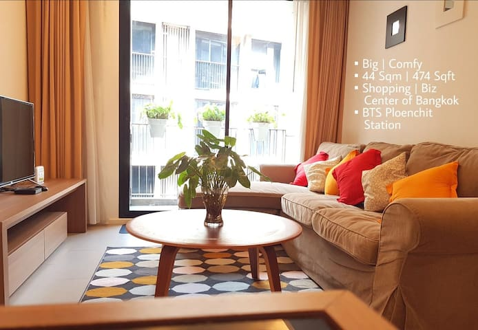 Big 1BR | Monthly stay | Central BKK | BTS | WiFi