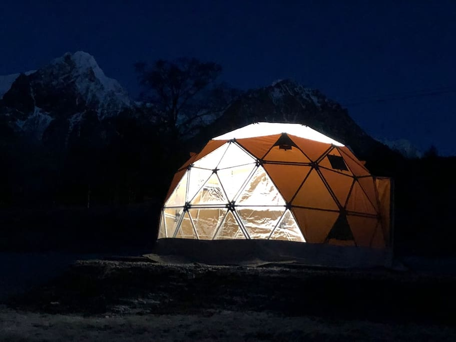 """""""Glass igloo/dome"""" 30 m from the house. The dome is like a hotell room in the nature. More pics at the end."""