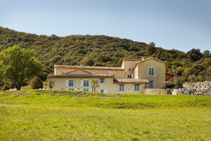 The Old Silk Farm - pool with stunning views - Rochemaure - Villa