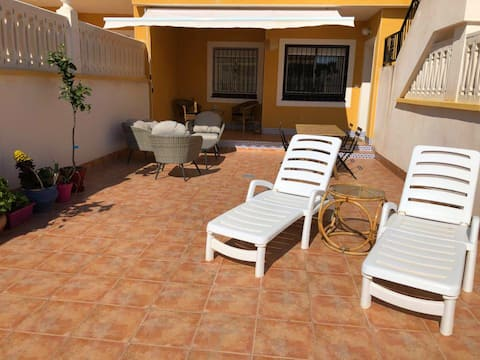 TERRACE 50M2,500M TO THE BEACH+POOL +WIFI