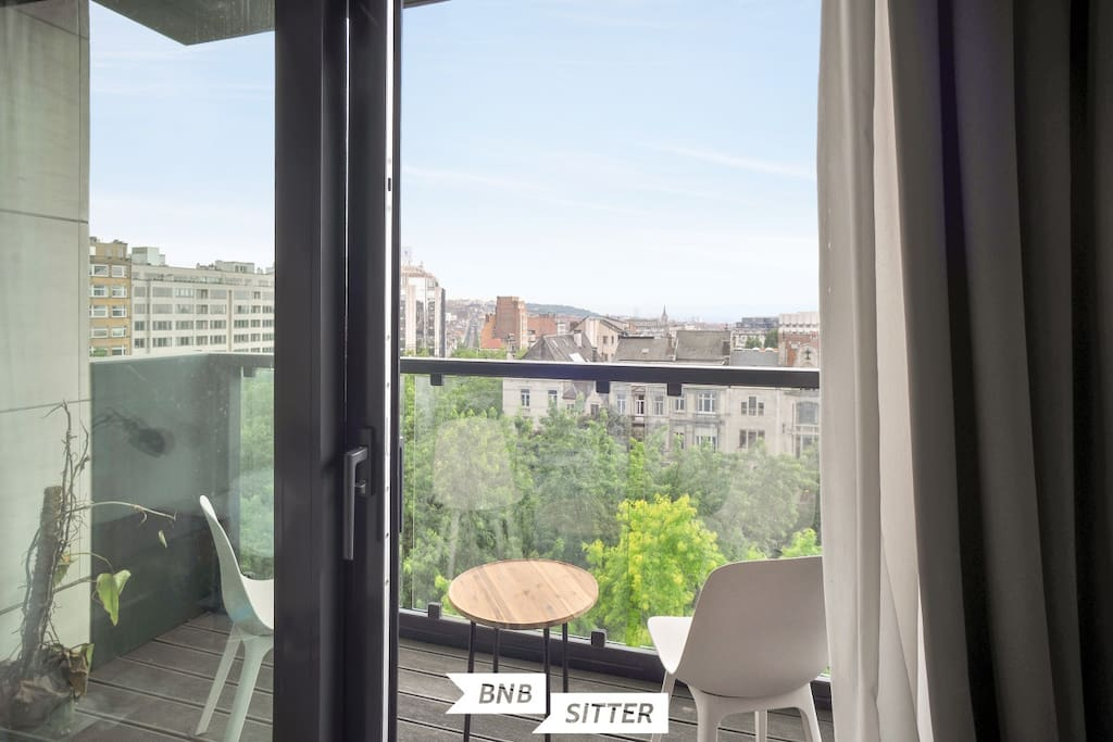 Enjoy stunning views from a sunny terrace on the 6th floor