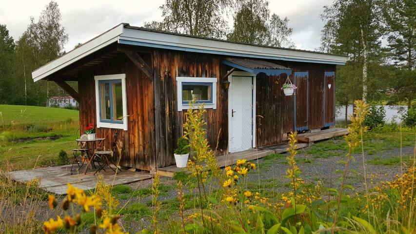 Åkes rum - (Sovrum 2) med två enkelsängar och egen uteplats.