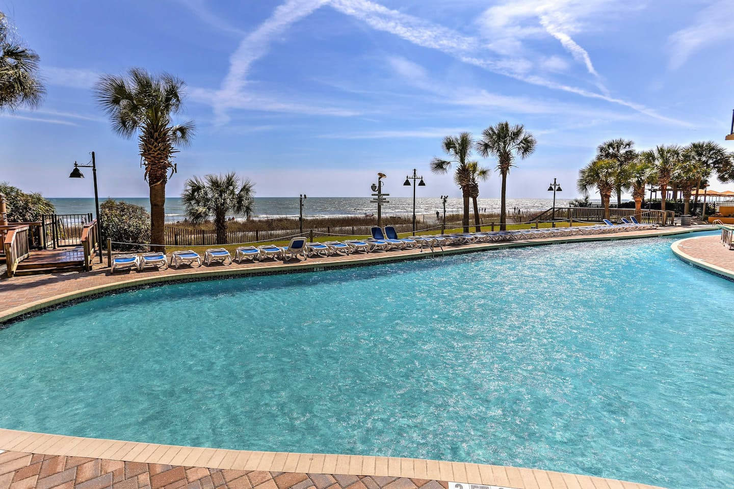 You'll love the on-site amenities, including a beachfront pool and lazy river!